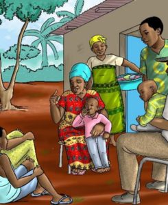 Illustrations were reviewed by TWG representatives to reflect family life in both urban and rural Sierra Leone